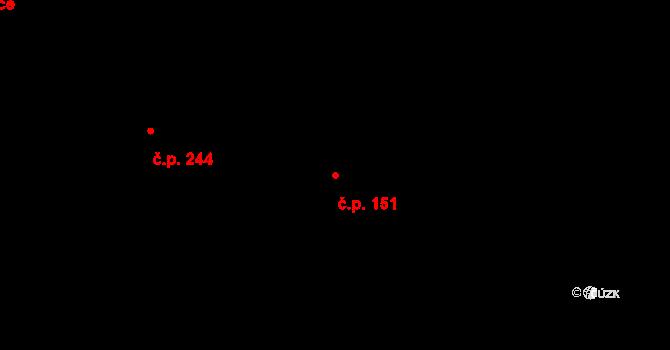 Kamenný Újezd 151 na parcele st. 214 v KÚ Kamenný Újezd u Rokycan, Katastrální mapa