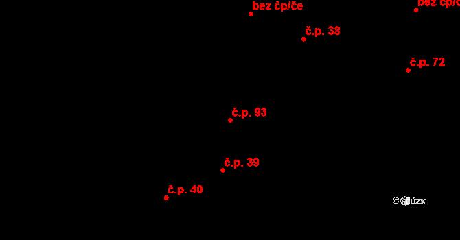 Děhylov 93 na parcele st. 62 v KÚ Děhylov, Katastrální mapa