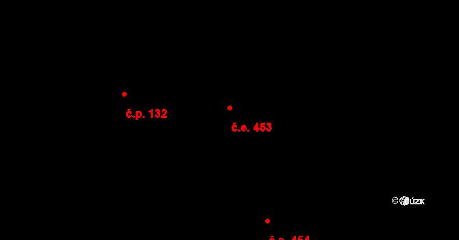Davle 453 na parcele st. 635 v KÚ Davle, Katastrální mapa