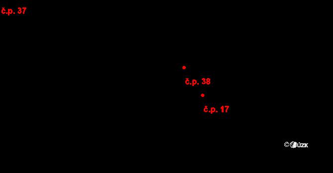 Bližší Lhota 38, Horní Planá na parcele st. 335/2 v KÚ Zvonková, Katastrální mapa
