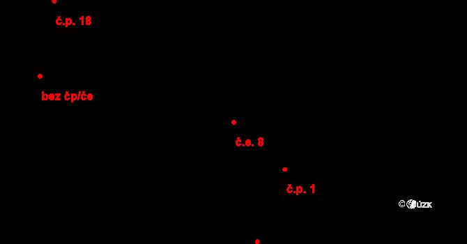 Stan 8, Lestkov na parcele st. 48 v KÚ Stan u Lestkova, Katastrální mapa