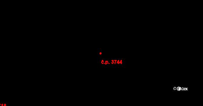 Mělník 3744 na parcele st. 7372/37 v KÚ Mělník, Katastrální mapa