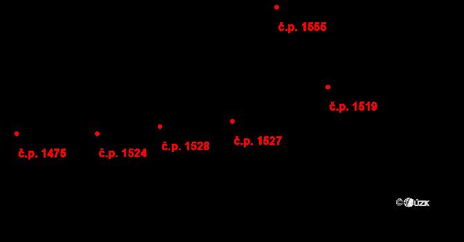 Vinohrady 1527, Praha na parcele st. 2309 v KÚ Vinohrady, Katastrální mapa