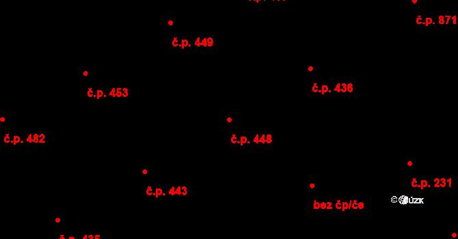 Vítkovice 448, Ostrava na parcele st. 280/1 v KÚ Vítkovice, Katastrální mapa