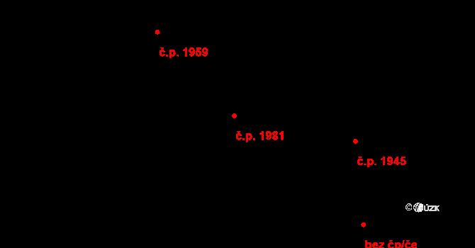 Trnovany 1981, Teplice na parcele st. 1104/62 v KÚ Teplice-Trnovany, Katastrální mapa