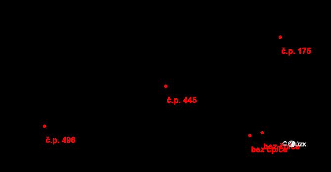 Hlubočepy 445, Praha na parcele st. 651 v KÚ Hlubočepy, Katastrální mapa