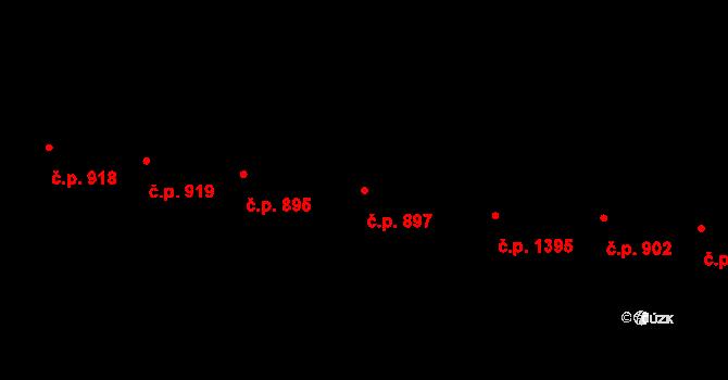 Vršovice 897, Praha na parcele st. 1989 v KÚ Vršovice, Katastrální mapa