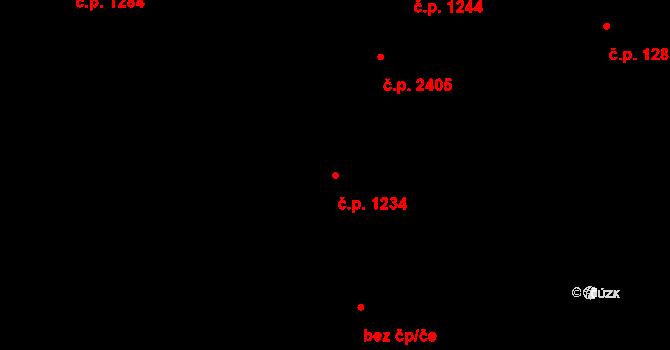 Vítkovice 1234, Ostrava na parcele st. 217 v KÚ Zábřeh-VŽ, Katastrální mapa