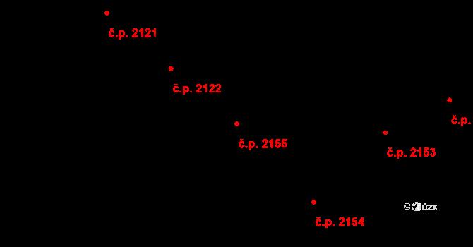 Vinohrady 2155, Praha na parcele st. 1056 v KÚ Vinohrady, Katastrální mapa