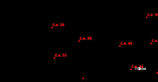Prštné 39, Zlín na parcele st. 834 v KÚ Prštné, Katastrální mapa