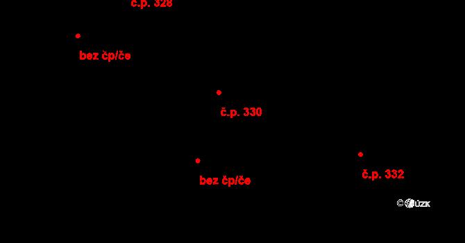 Hradec nad Svitavou 330 na parcele st. 393 v KÚ Hradec nad Svitavou, Katastrální mapa