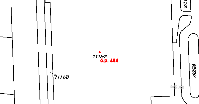 Liberec XXIII-Doubí 484, Liberec na parcele st. 1115/2 v KÚ Doubí u Liberce, Katastrální mapa