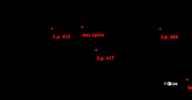 Mosty 417, Český Těšín na parcele st. 1146/11 v KÚ Mosty u Českého Těšína, Katastrální mapa