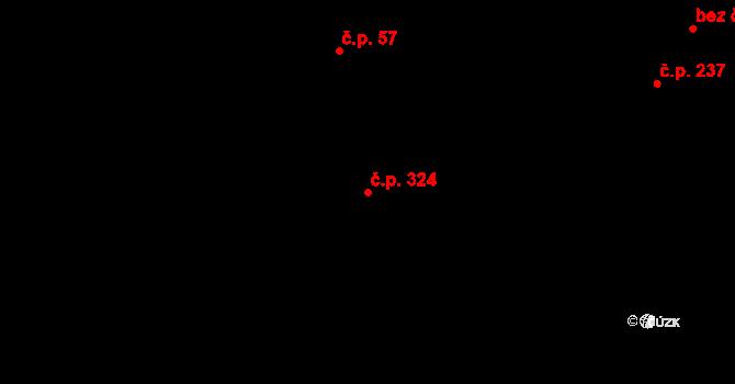 Krásné Pole 324, Ostrava na parcele st. 1167/1 v KÚ Krásné Pole, Katastrální mapa