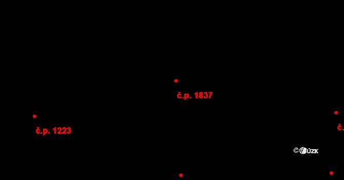 Krč 1837, Praha na parcele st. 879/55 v KÚ Krč, Katastrální mapa