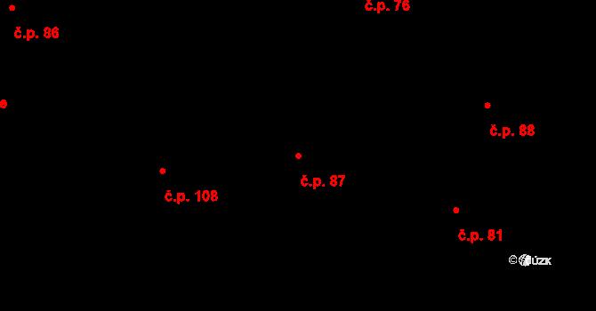 Vilémov 87, Humpolec na parcele st. 181 v KÚ Vilémov u Humpolce, Katastrální mapa