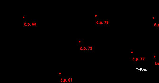 Sedlejov 73 na parcele st. 97 v KÚ Sedlejov, Katastrální mapa