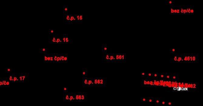 Jihlava 561 na parcele st. 1409 v KÚ Jihlava, Katastrální mapa