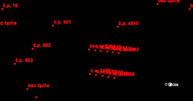 Jihlava 2486 na parcele st. 1406/6 v KÚ Jihlava, Katastrální mapa