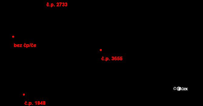 Frýdek 3655, Frýdek-Místek na parcele st. 5847/8 v KÚ Frýdek, Katastrální mapa