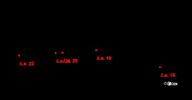 Staré Hory 19, Jihlava na parcele st. 156 v KÚ Staré Hory, Katastrální mapa