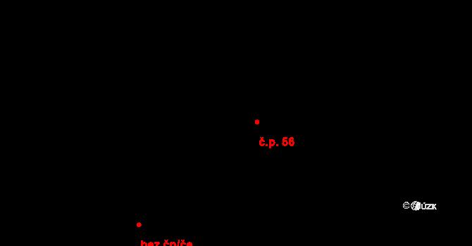 Bojanovice 56 na parcele st. 67 v KÚ Bojanovice, Katastrální mapa