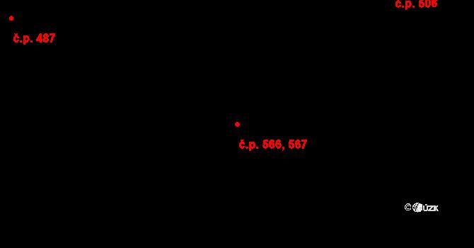 Frýdek 566,567, Frýdek-Místek na parcele st. 1085/132 v KÚ Frýdek, Katastrální mapa