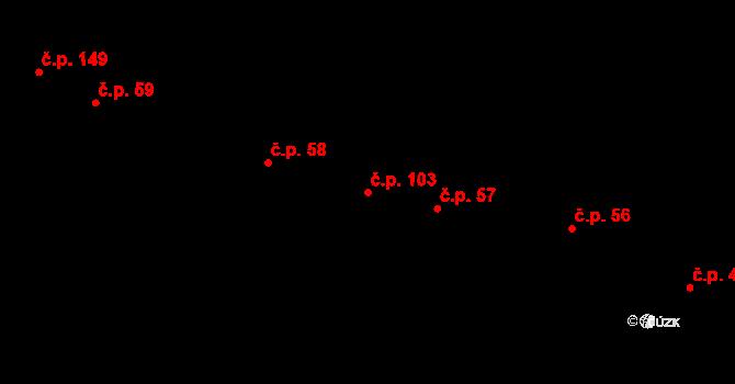 Lysolaje 103, Praha na parcele st. 51 v KÚ Lysolaje, Katastrální mapa
