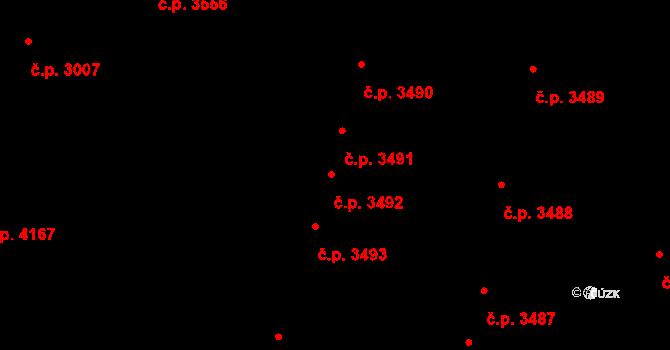 Havlíčkův Brod 3492 na parcele st. 500 v KÚ Perknov, Katastrální mapa