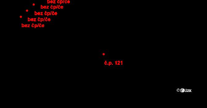 Stará Rudná 121, Rudná pod Pradědem na parcele st. 157 v KÚ Stará Rudná, Katastrální mapa