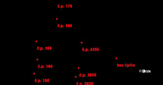 Havlíčkův Brod 4155 na parcele st. 301/2 v KÚ Havlíčkův Brod, Katastrální mapa