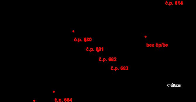 Rosice 682, Pardubice na parcele st. 1456 v KÚ Rosice nad Labem, Katastrální mapa