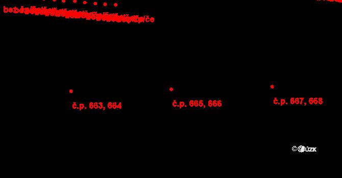 Komín 665,666, Brno na parcele st. 3511 v KÚ Komín, Katastrální mapa