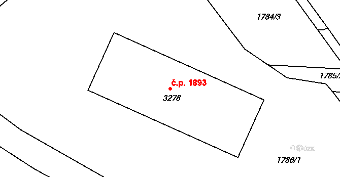 Vlašim 1893 na parcele st. 3278 v KÚ Vlašim, Katastrální mapa