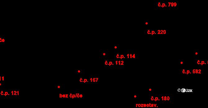 Studánka 112, Pardubice na parcele st. 135 v KÚ Studánka, Katastrální mapa