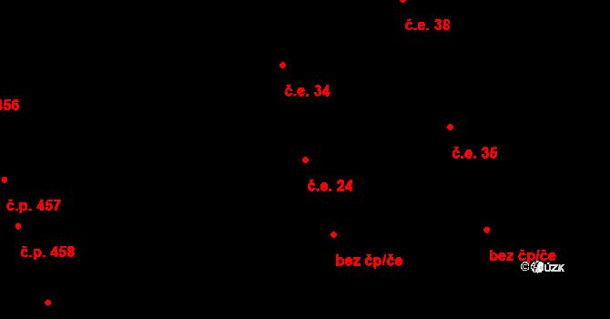 Liberec XIX-Horní Hanychov 24, Liberec na parcele st. 334/23 v KÚ Horní Hanychov, Katastrální mapa