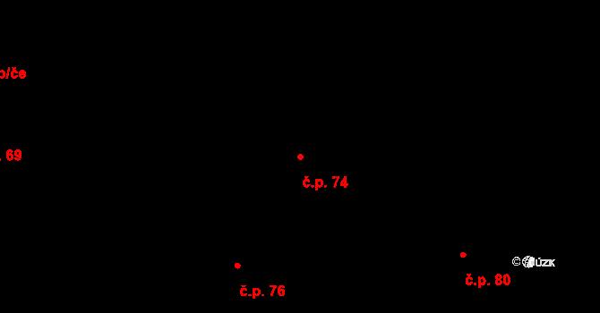 Sedlejov 74 na parcele st. 130 v KÚ Sedlejov, Katastrální mapa