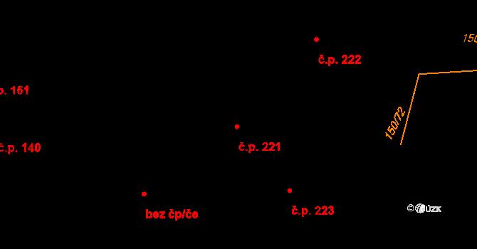 Studánka 221 na parcele st. 333 v KÚ Studánka u Tachova, Katastrální mapa