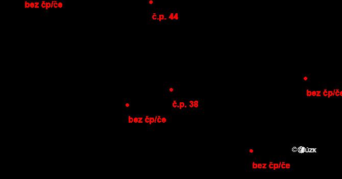 Lhota 38, Čistá na parcele st. 234 v KÚ Lhota u Rakovníka, Katastrální mapa