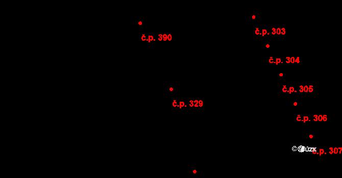 Mladcová 329, Zlín na parcele st. 590 v KÚ Mladcová, Katastrální mapa
