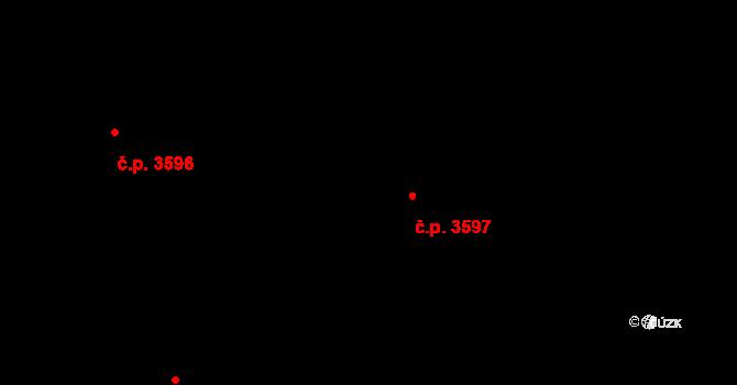 Jihlava 3597 na parcele st. 5468/23 v KÚ Jihlava, Katastrální mapa