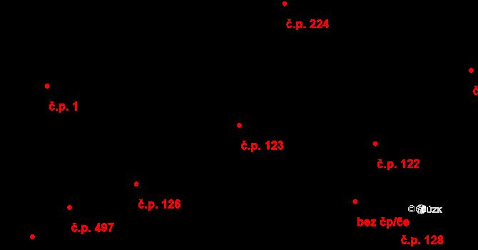 Kročehlavy 123, Kladno na parcele st. 1203 v KÚ Kročehlavy, Katastrální mapa