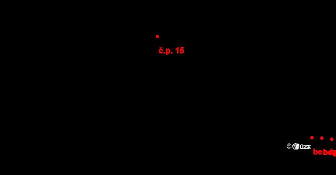 Bílý Potok 15 na parcele st. 77 v KÚ Bílý Potok pod Smrkem, Katastrální mapa