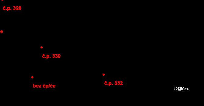 Hradec nad Svitavou 332 na parcele st. 291 v KÚ Hradec nad Svitavou, Katastrální mapa