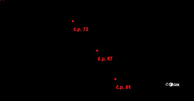 Heroltice 67, Jihlava na parcele st. 49/5 v KÚ Heroltice u Jihlavy, Katastrální mapa