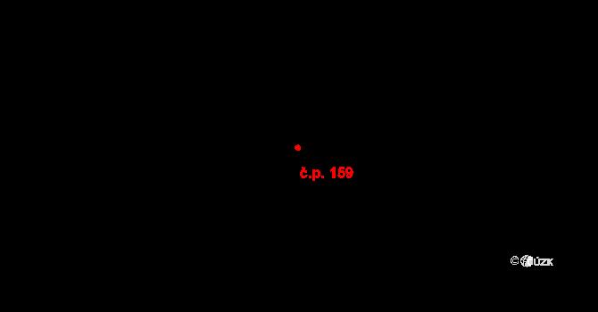 Žďár 159 na parcele st. 200 v KÚ Žďár u Blanska, Katastrální mapa