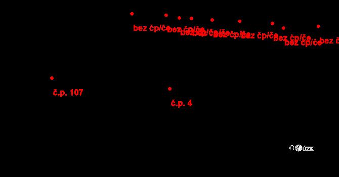 Vrchoslavice 4 na parcele st. 3423 v KÚ Vrchoslavice, Katastrální mapa