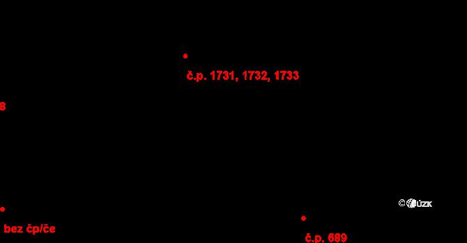 Roztoky 1731,1732,1733 na parcele st. 1257/12 v KÚ Roztoky u Prahy, Katastrální mapa