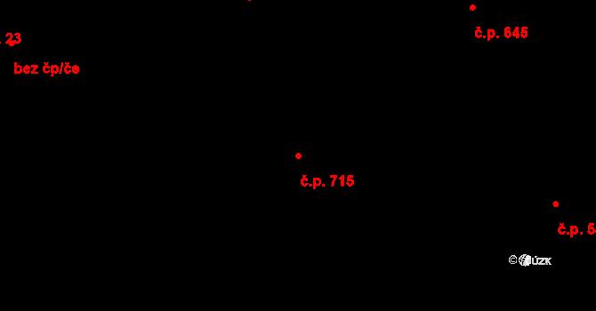 Michálkovice 715, Ostrava na parcele st. 1334 v KÚ Michálkovice, Katastrální mapa