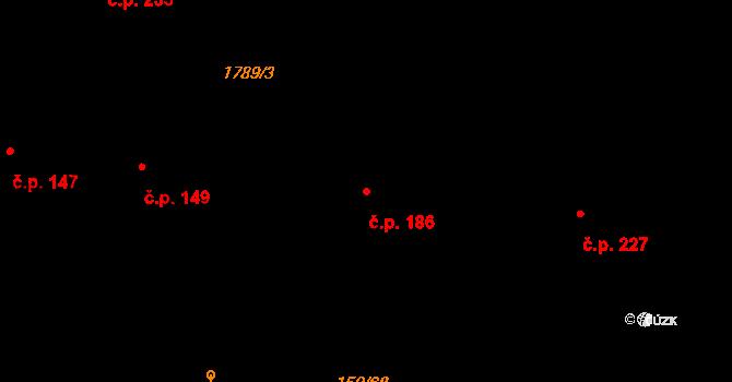 Studánka 186 na parcele st. 275 v KÚ Studánka u Tachova, Katastrální mapa